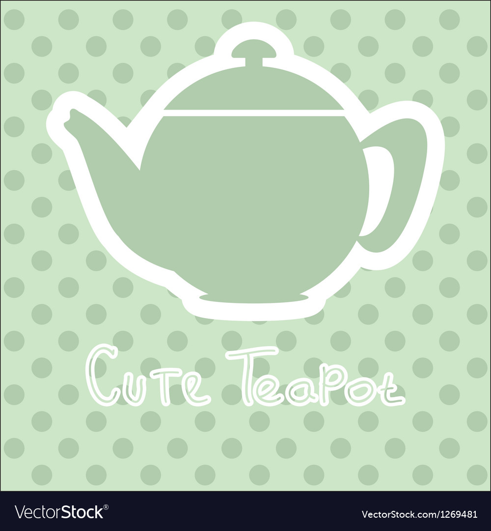 Cute tea time card vector image