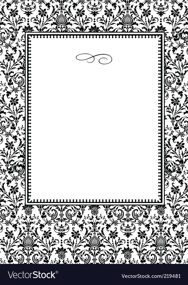 Damask frame Royalty Free Vector Image - VectorStock