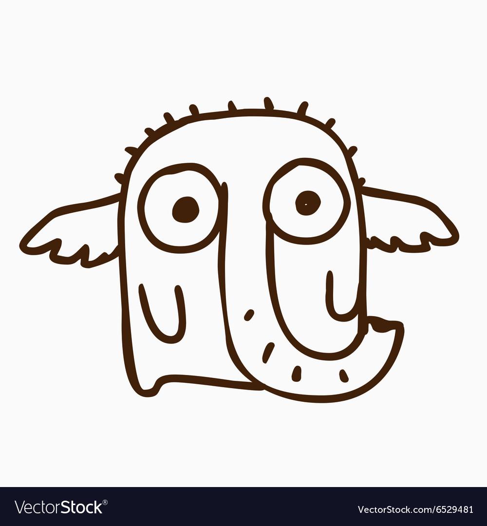 Elephant alien outline