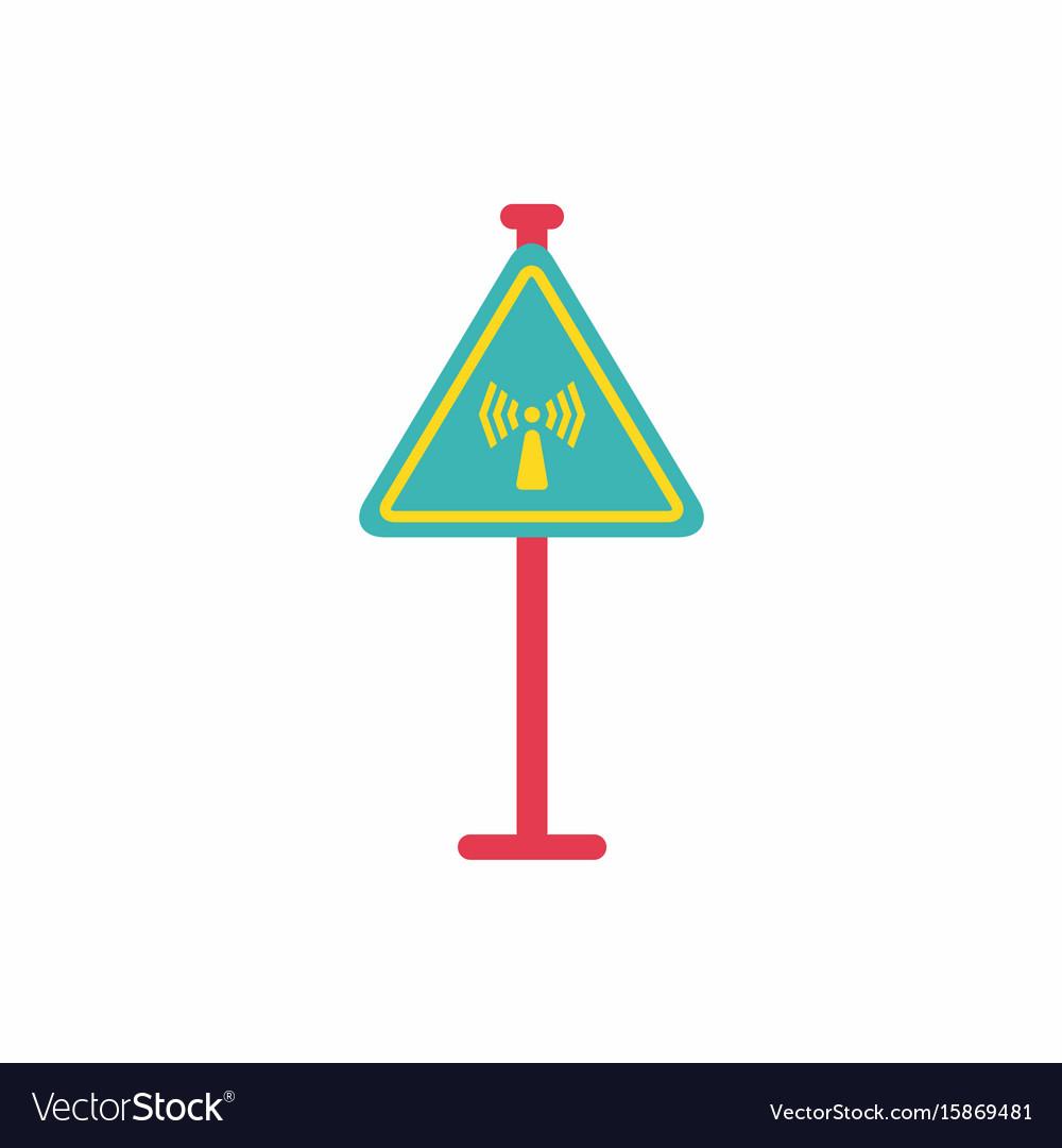 Network badge road sign wifi traffic symbol