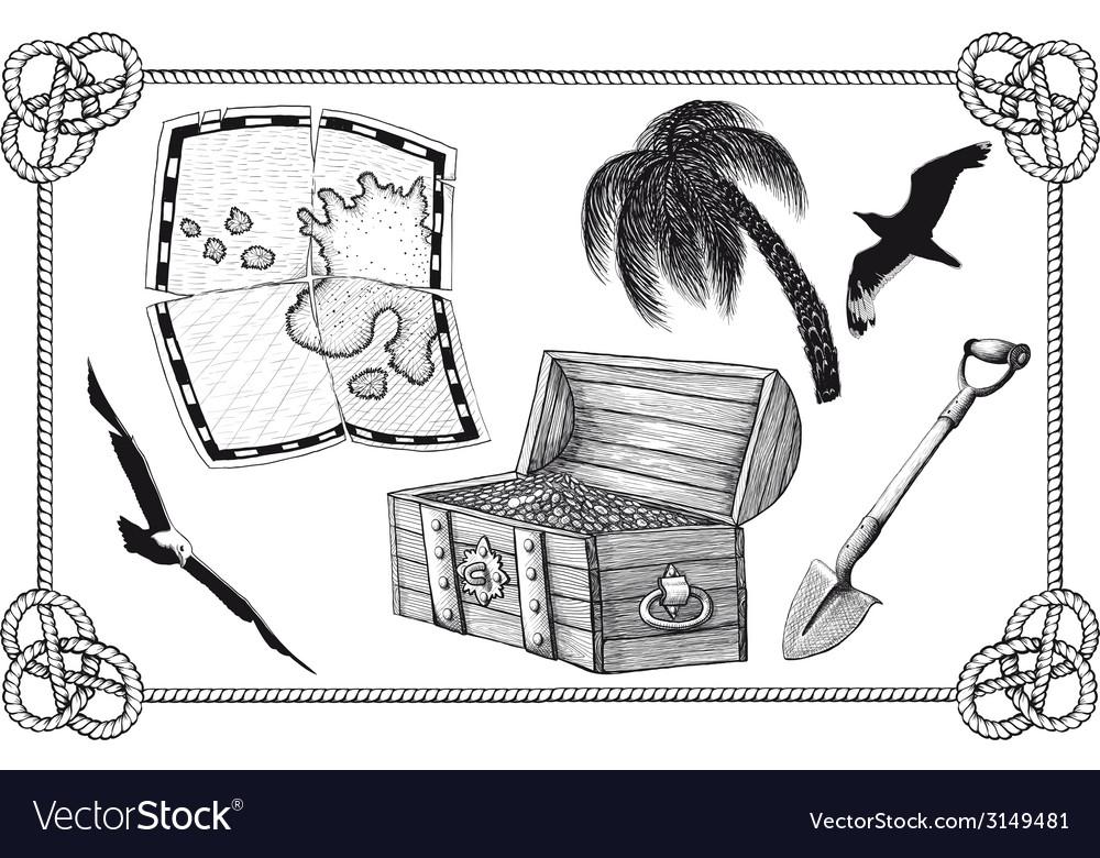 Set pirate treasure