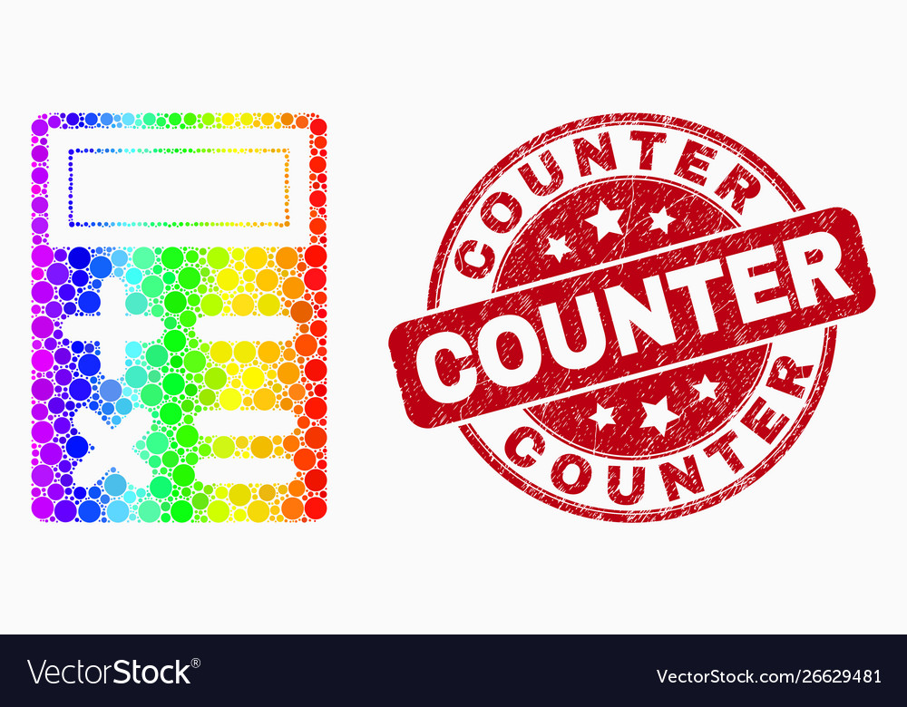 Spectral pixel calculator icon and