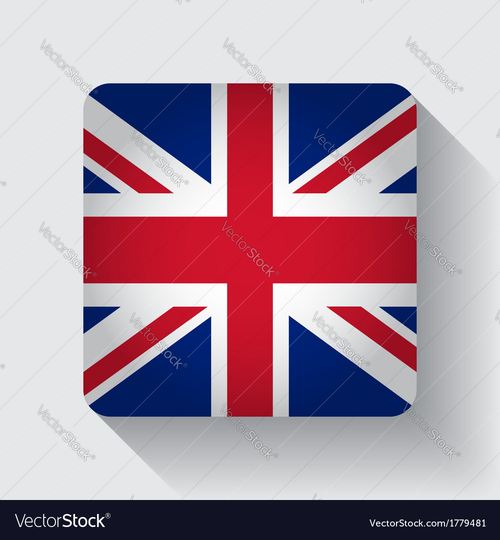 Web button with flag of the UK