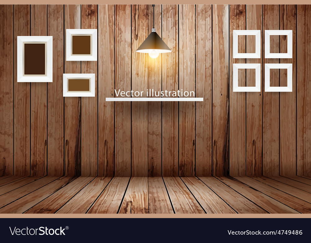 empty wooden room template design royalty free vector image