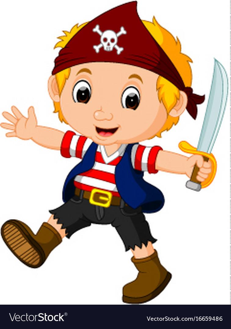 kid boy pirate cartoon royalty free vector image rh vectorstock com female pirate cartoon images female pirate cartoon images