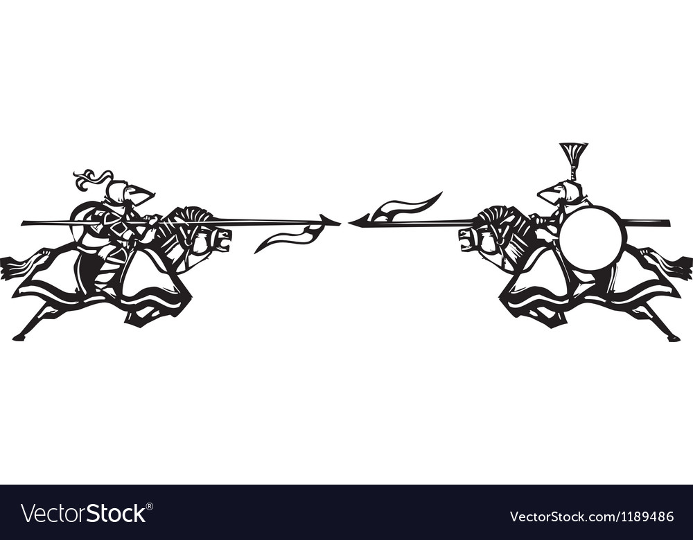 Knights Jousting vector image