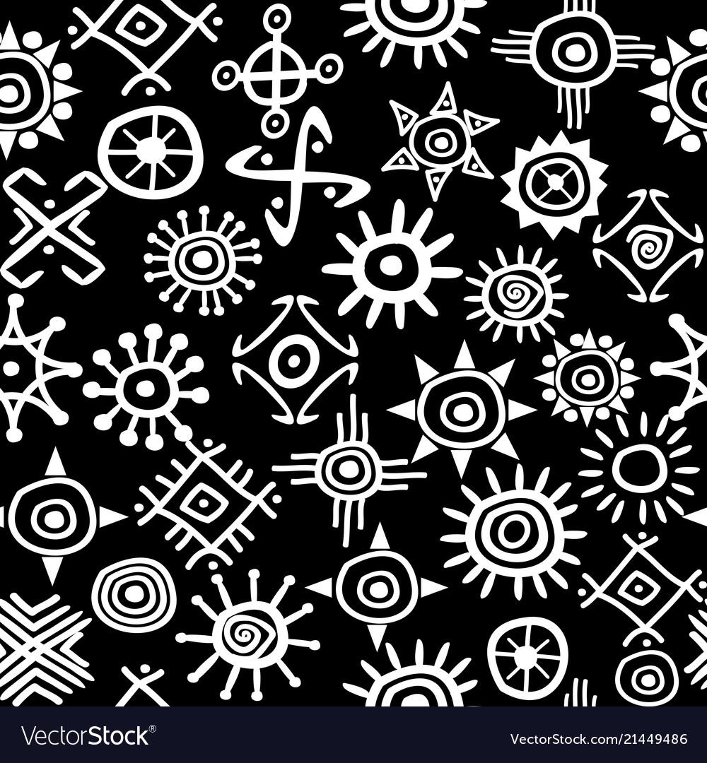 Solar symbols seamless