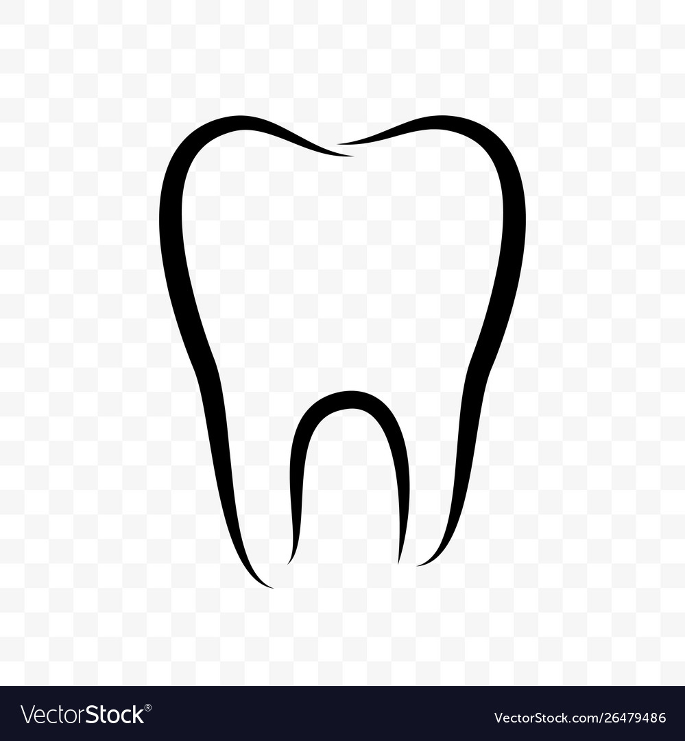 Tooth outline icon dentistry clinic whitening
