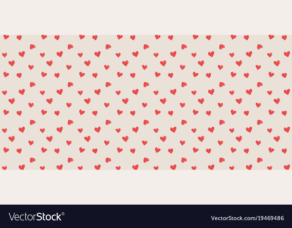 Valentines background with heart seamless pattern