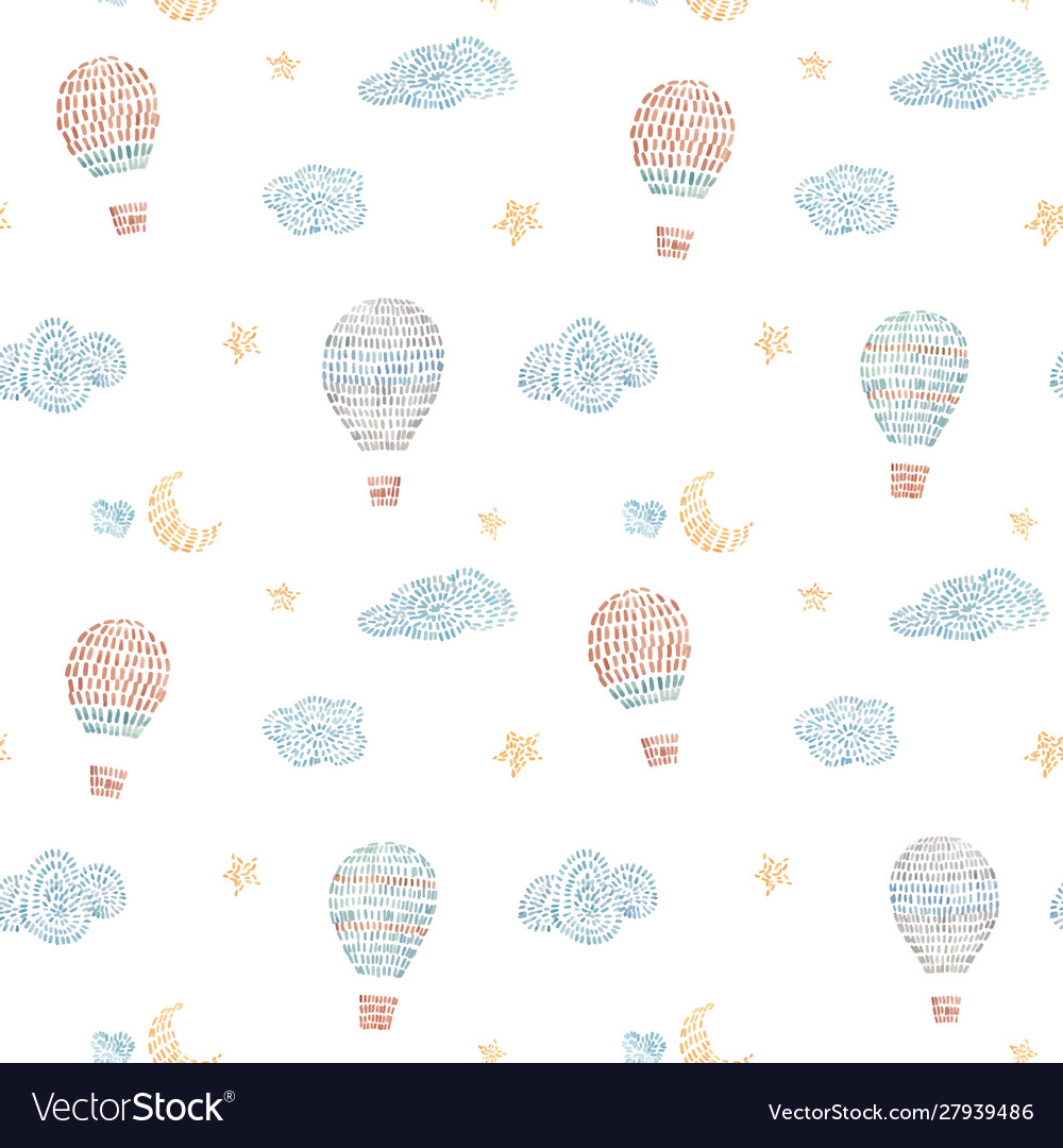 Watercolor seamless pattern with air