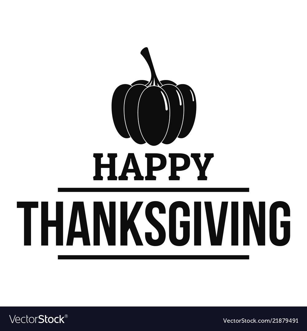 Autumn thanksgiving logo simple style