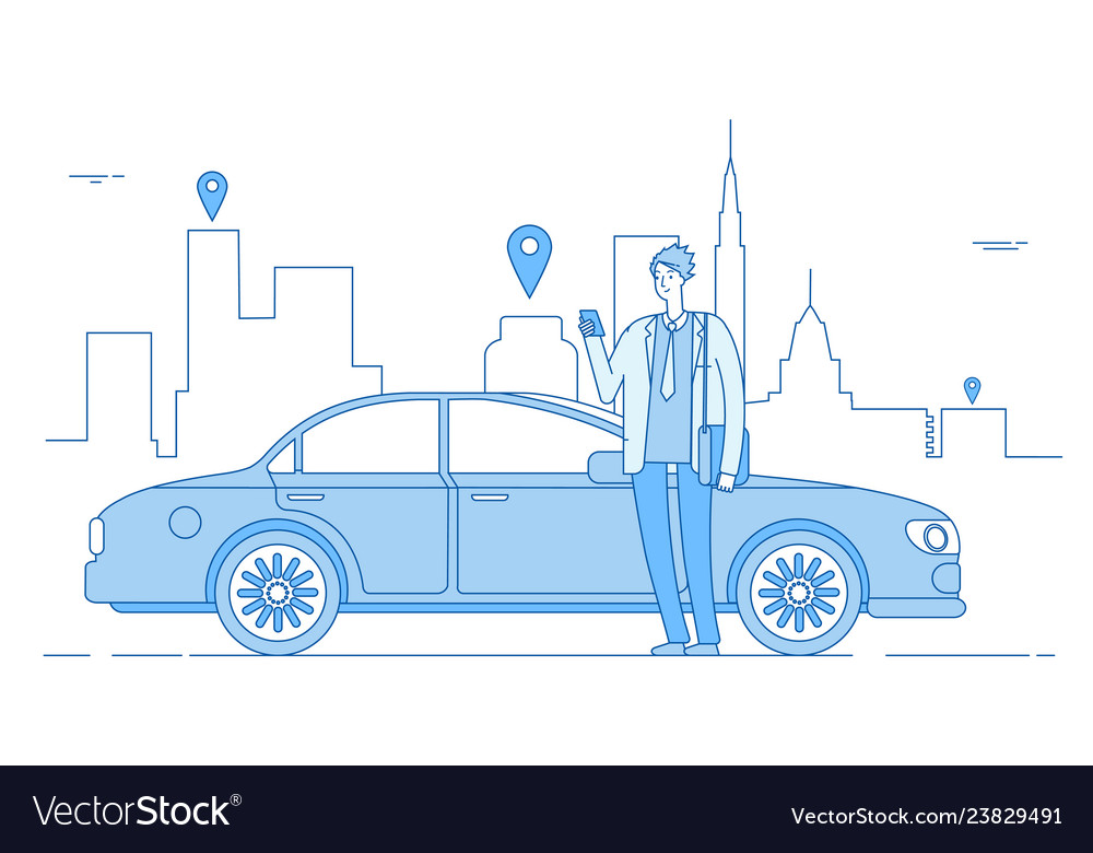 Car sharing concept car rental application