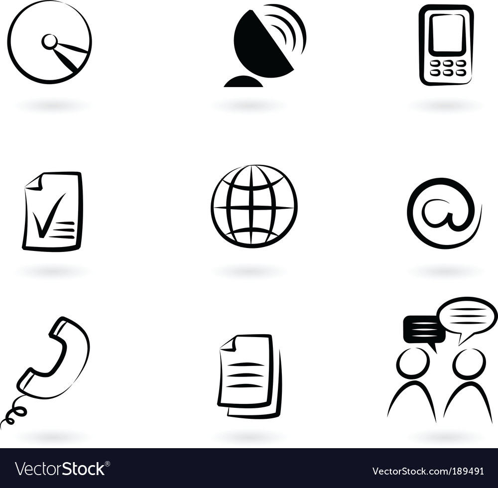 Communication technology icon and logos