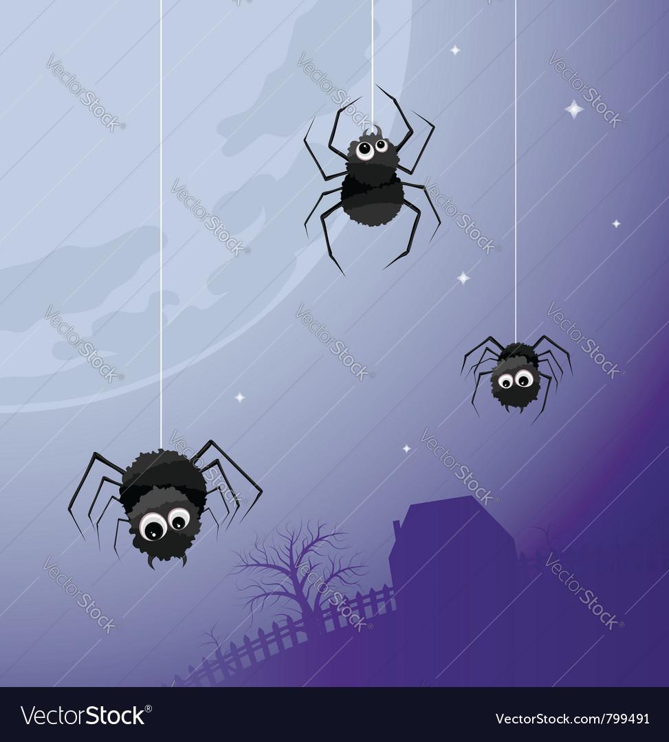 Creepy spiders background