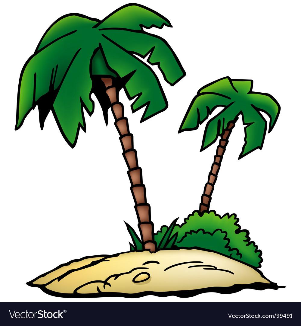 Palms beach vector image