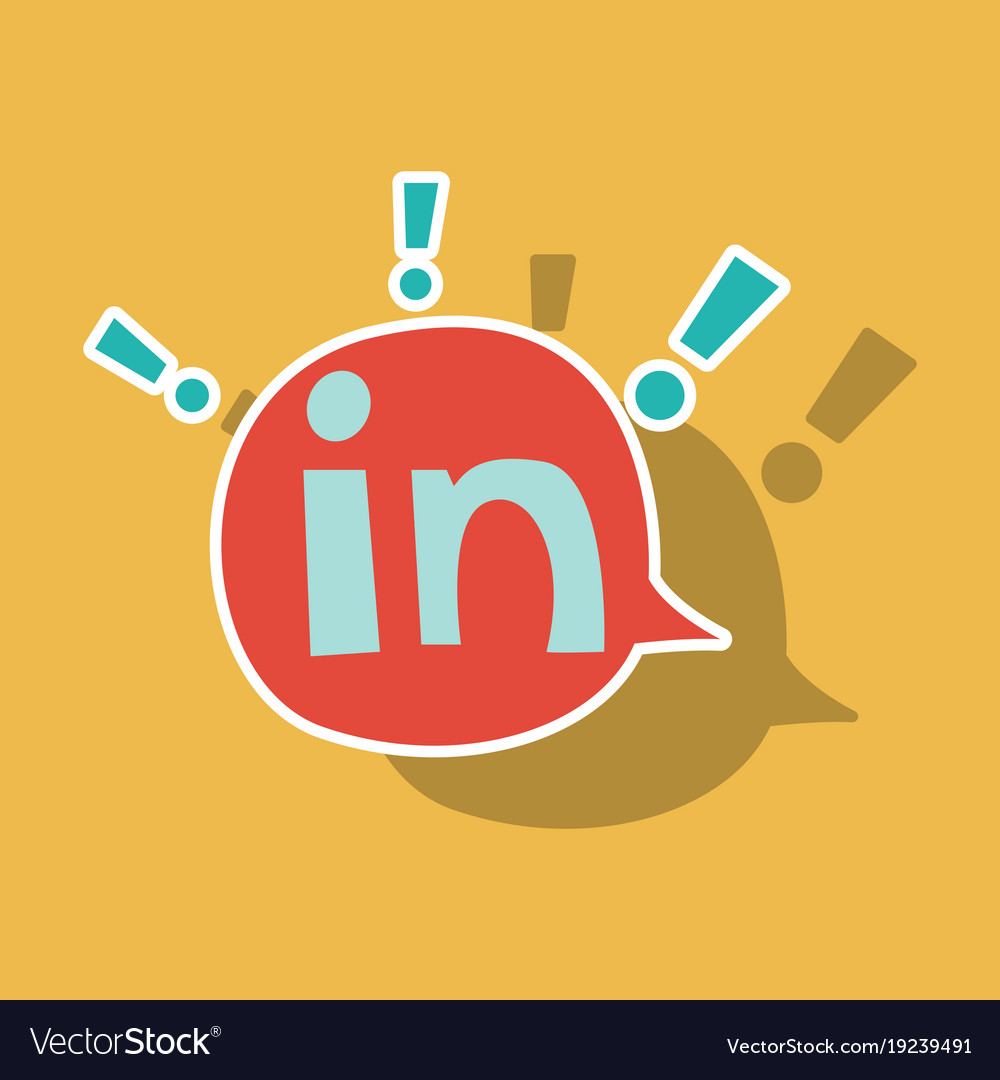 sticker linkedin color icon glossy app icon logo vector image