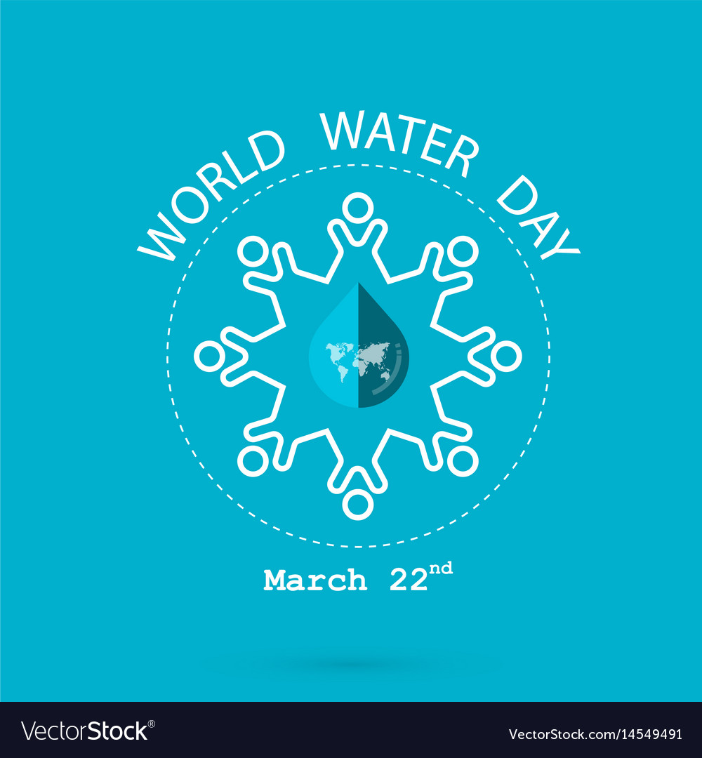 Water drop and world map with people icon logo vector image gumiabroncs Gallery