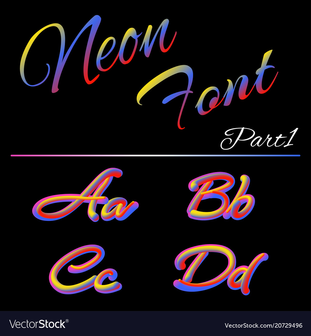 3d neon led font liquid matte rounded type tube