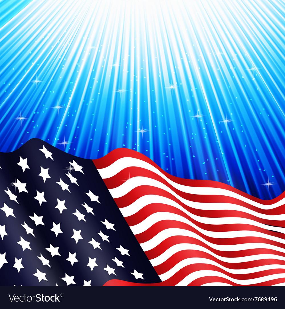 American flag underwater vector image