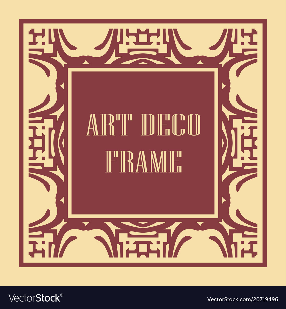 Art deco frame border Royalty Free Vector Image