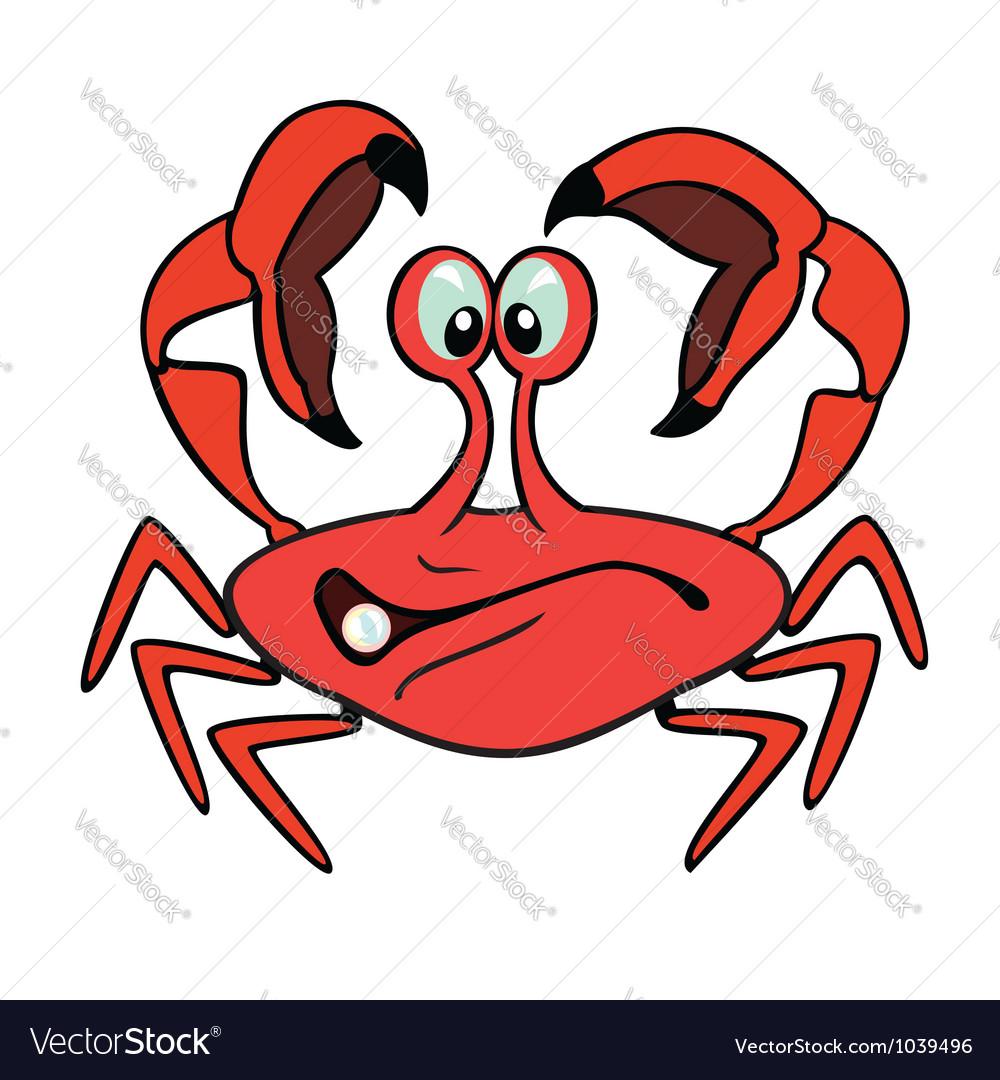cartoon crab royalty free vector image vectorstock rh vectorstock com crab vector free download crab vector art free