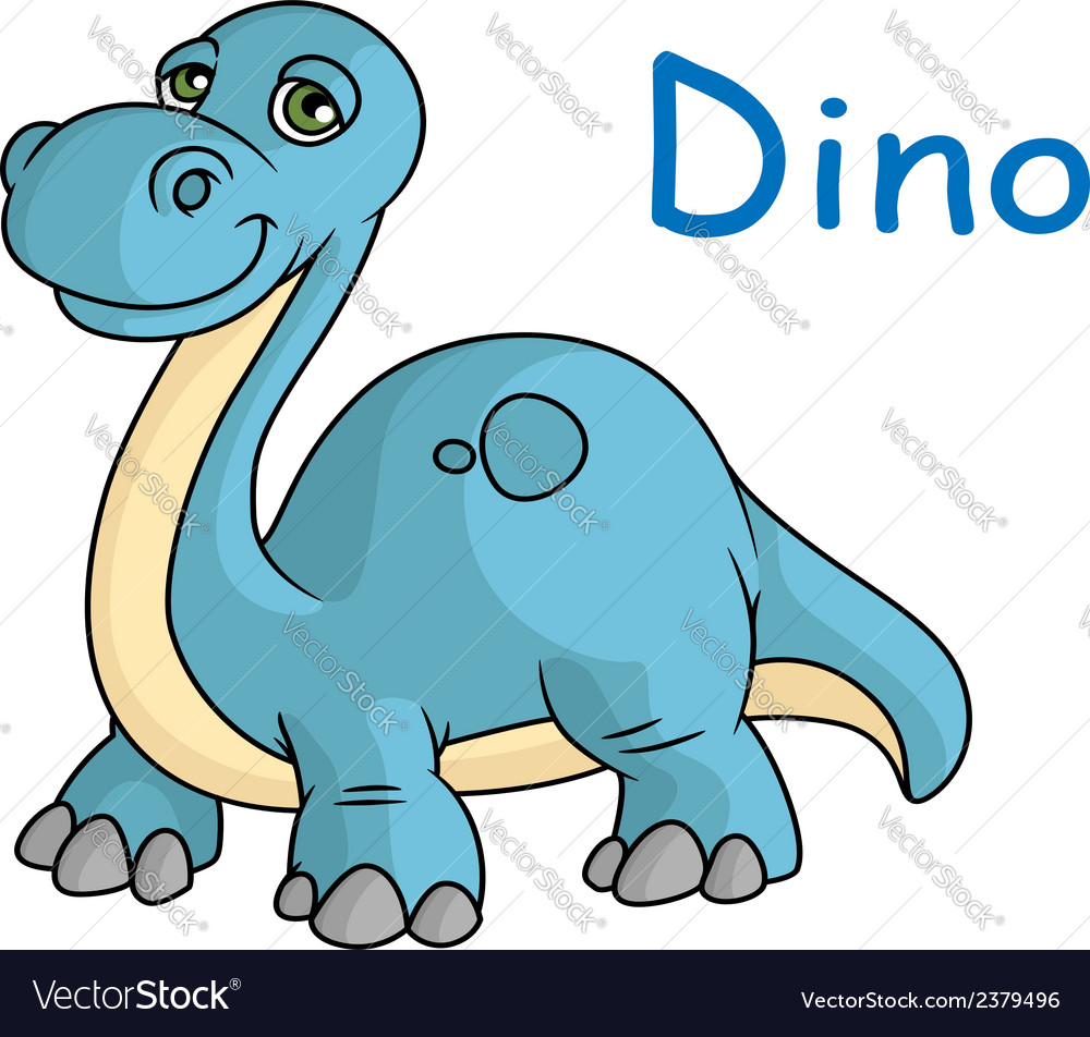 Funny blue dino
