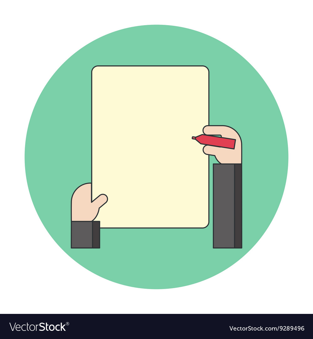 Notes on a blank sheet vector image