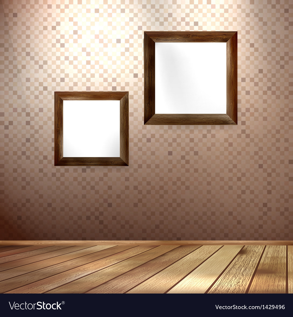 Vintage frame on a wooden texture EPS 10 vector image
