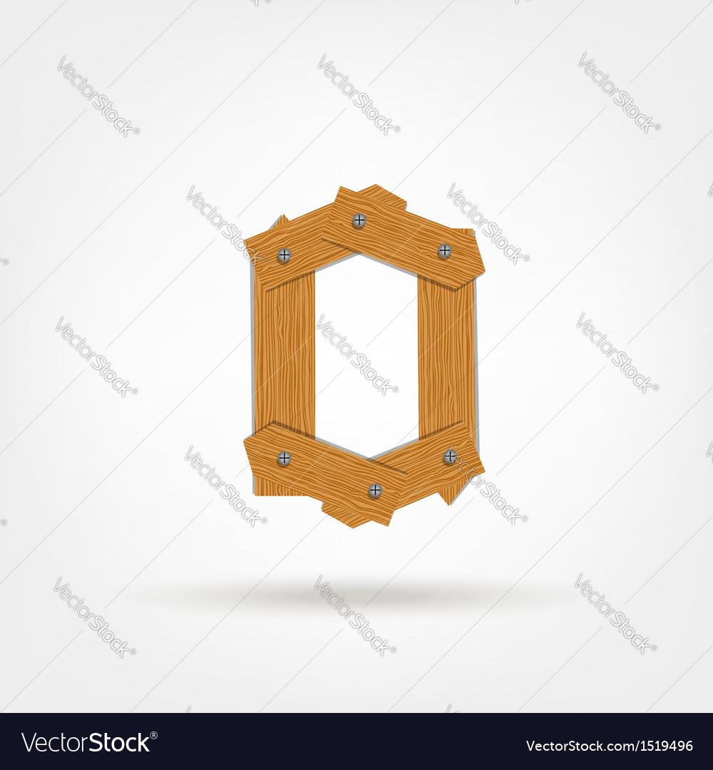 Wooden Boards Zero vector image