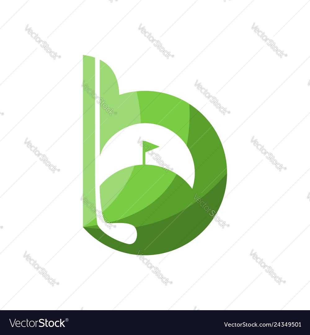 B golf logo