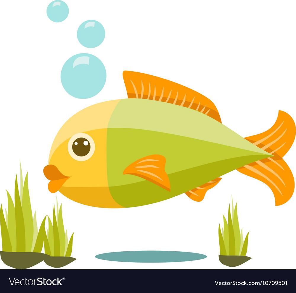 Cute Isolated Fish Cartoon