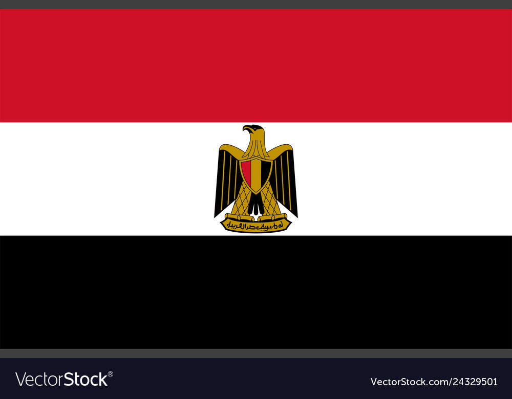 Flag Of Egypt Royalty Free Vector Image Vectorstock
