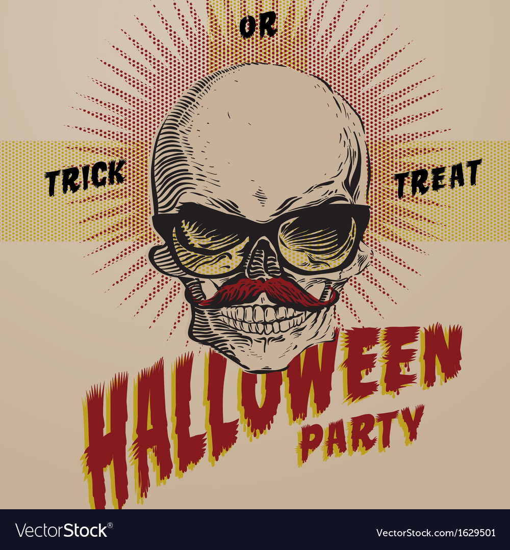 Halloween Party design template for vector image