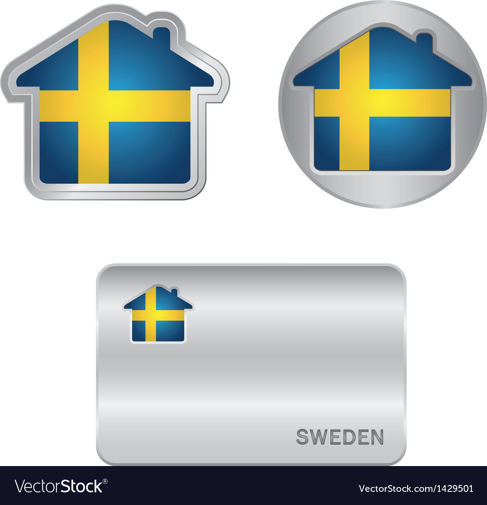 Home icon on the Sweden flag
