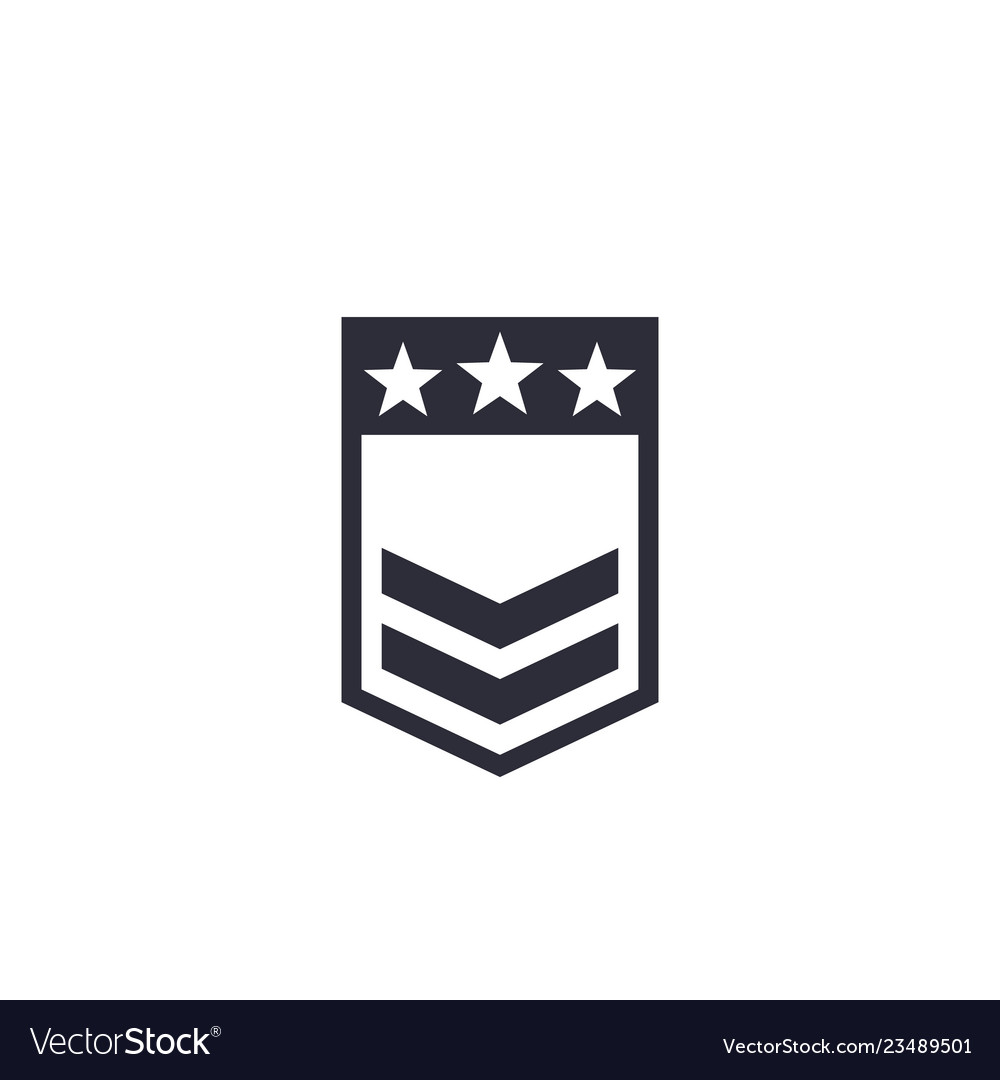 Military rank badge