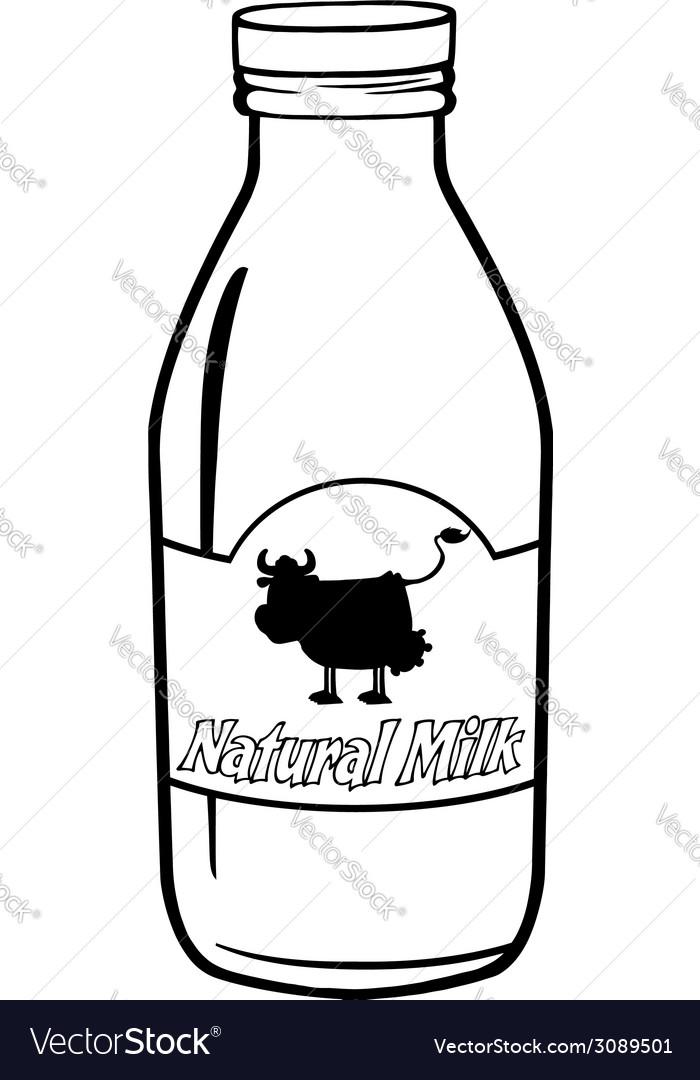 Milk bottle cartoon