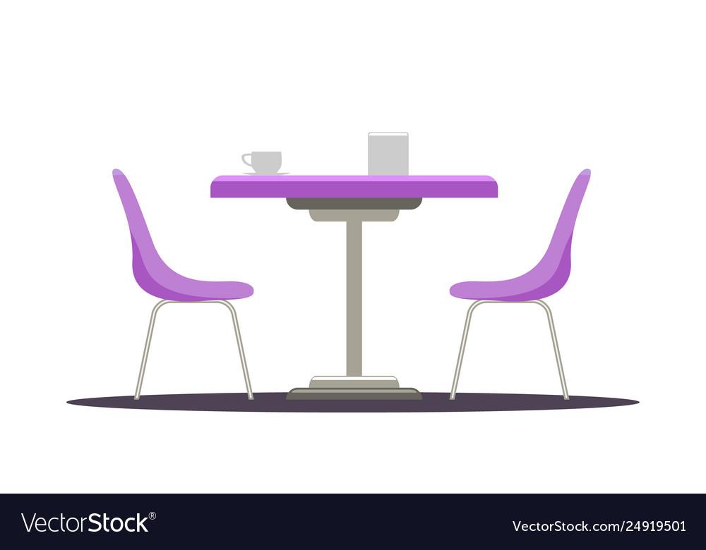 Terrific Modern Round Table With Curved Chairs Flat Color Inzonedesignstudio Interior Chair Design Inzonedesignstudiocom