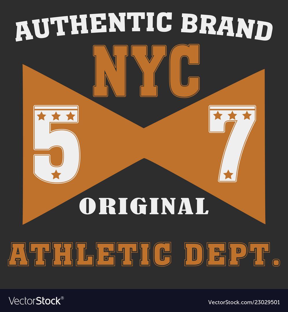 New york brooklyn sport wear typography emblem Vector Image 573ac73af