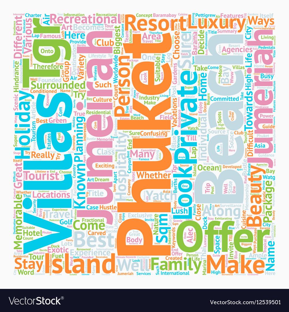 Phuket beach villas Jumeirah phuket Phuket villas
