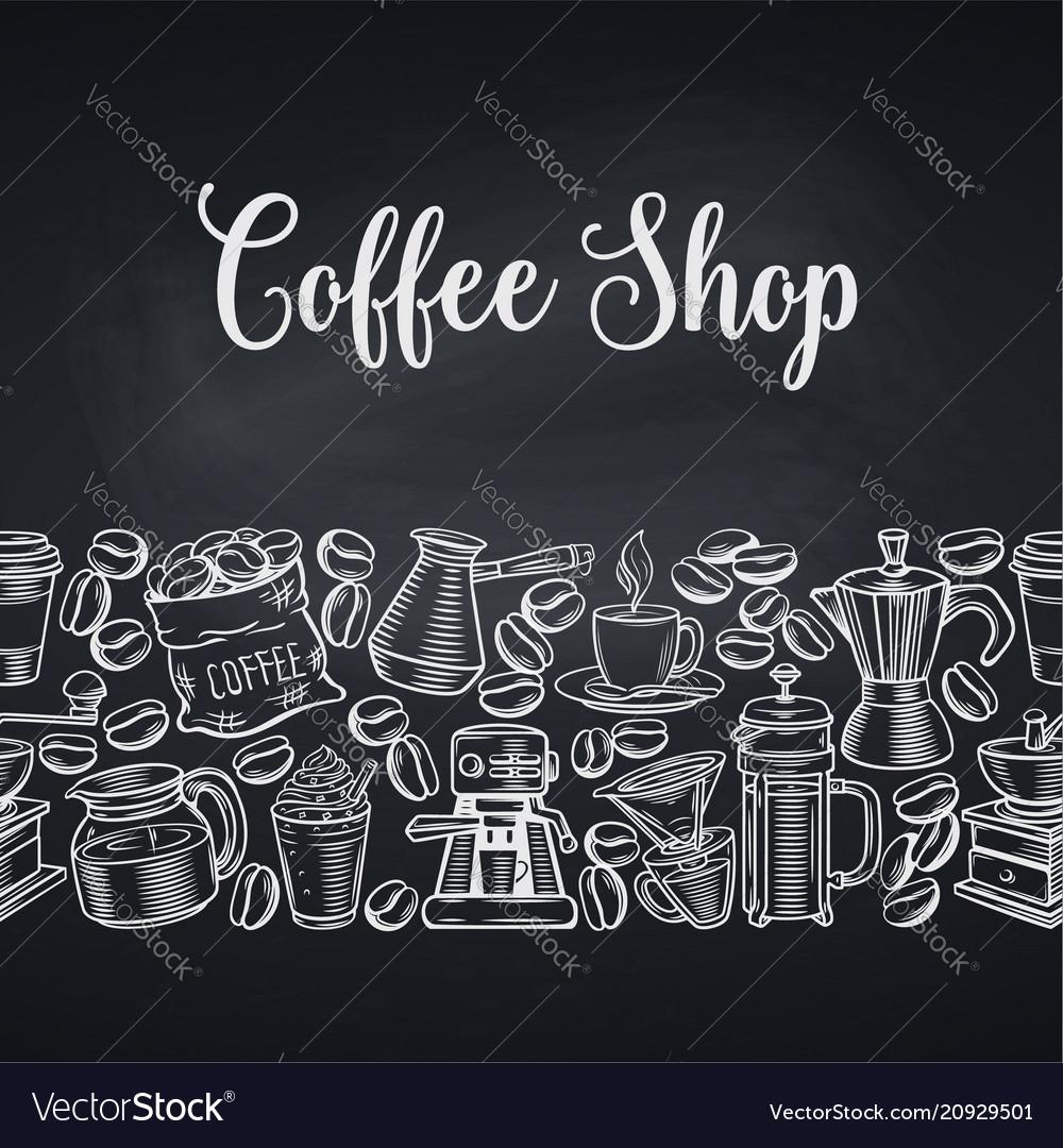 Seamless border coffee shop