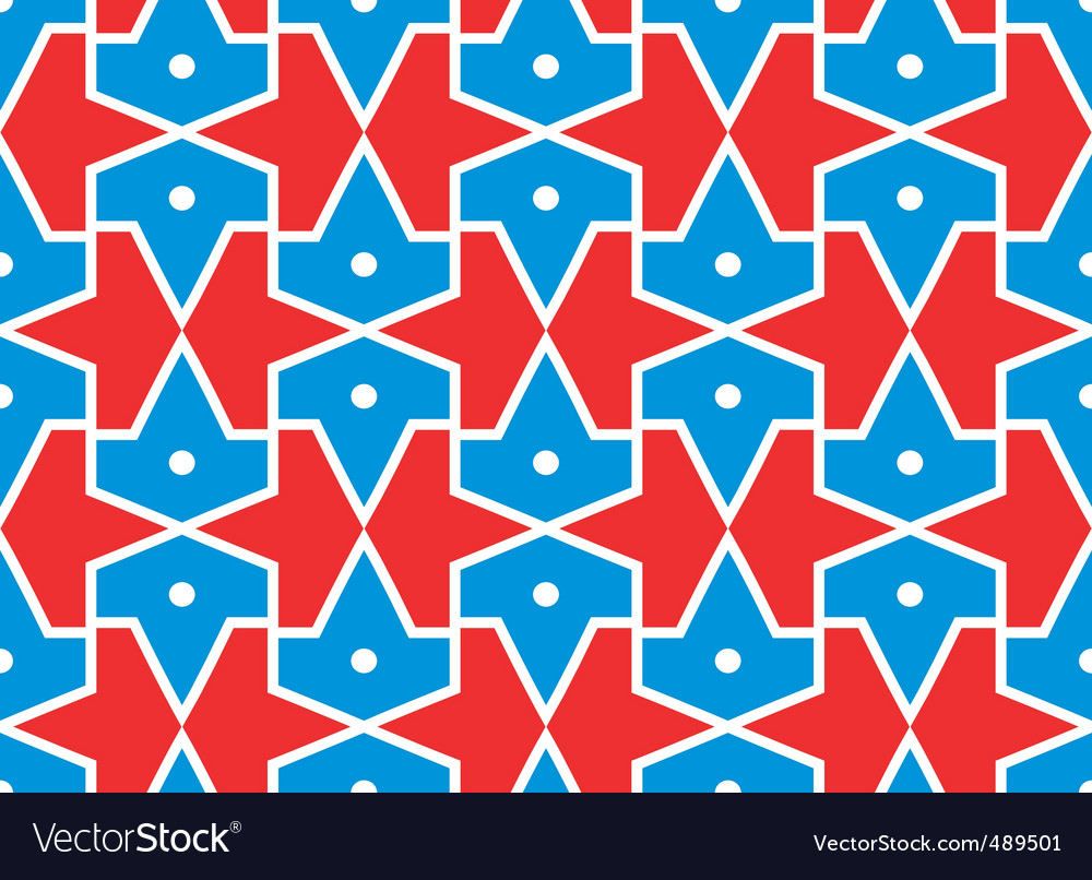 Seamless traditional Islamic pattern girth vector image