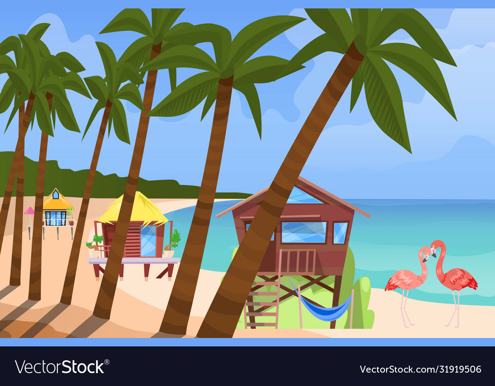 Beach bugalow home background