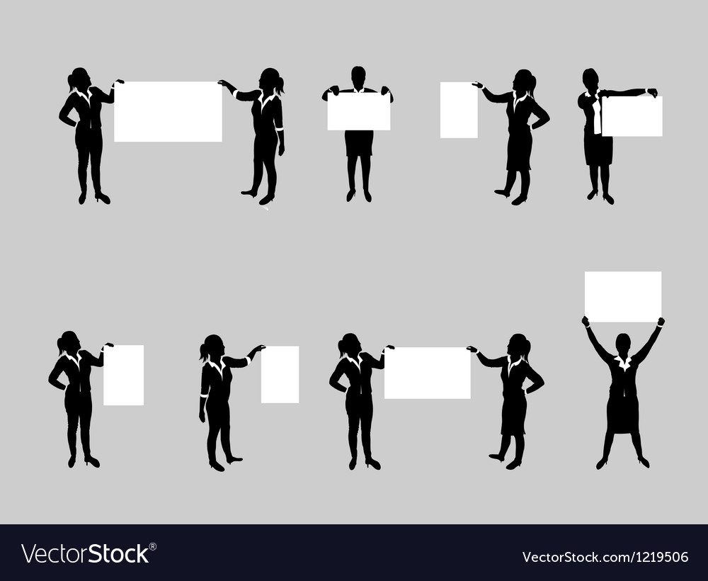 Business people board set3 vector image