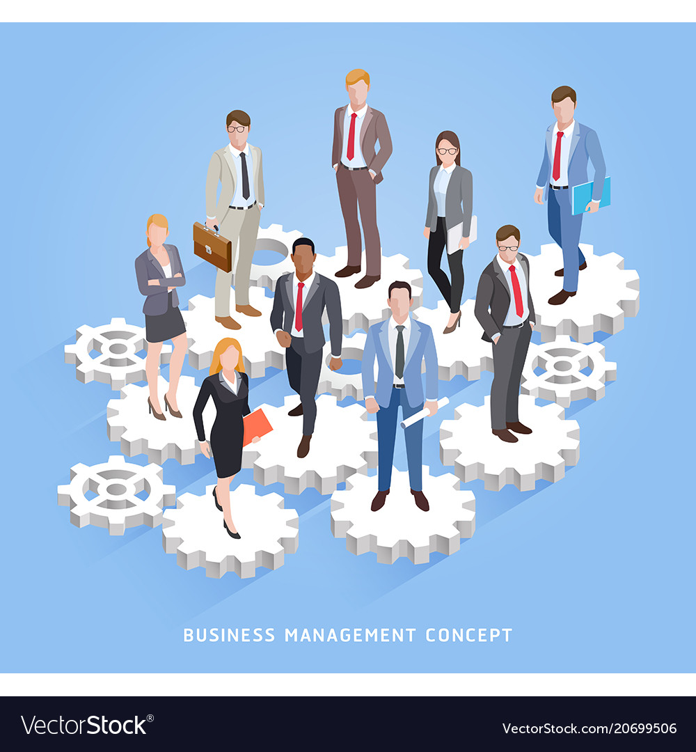 Business teamwork management conceptual