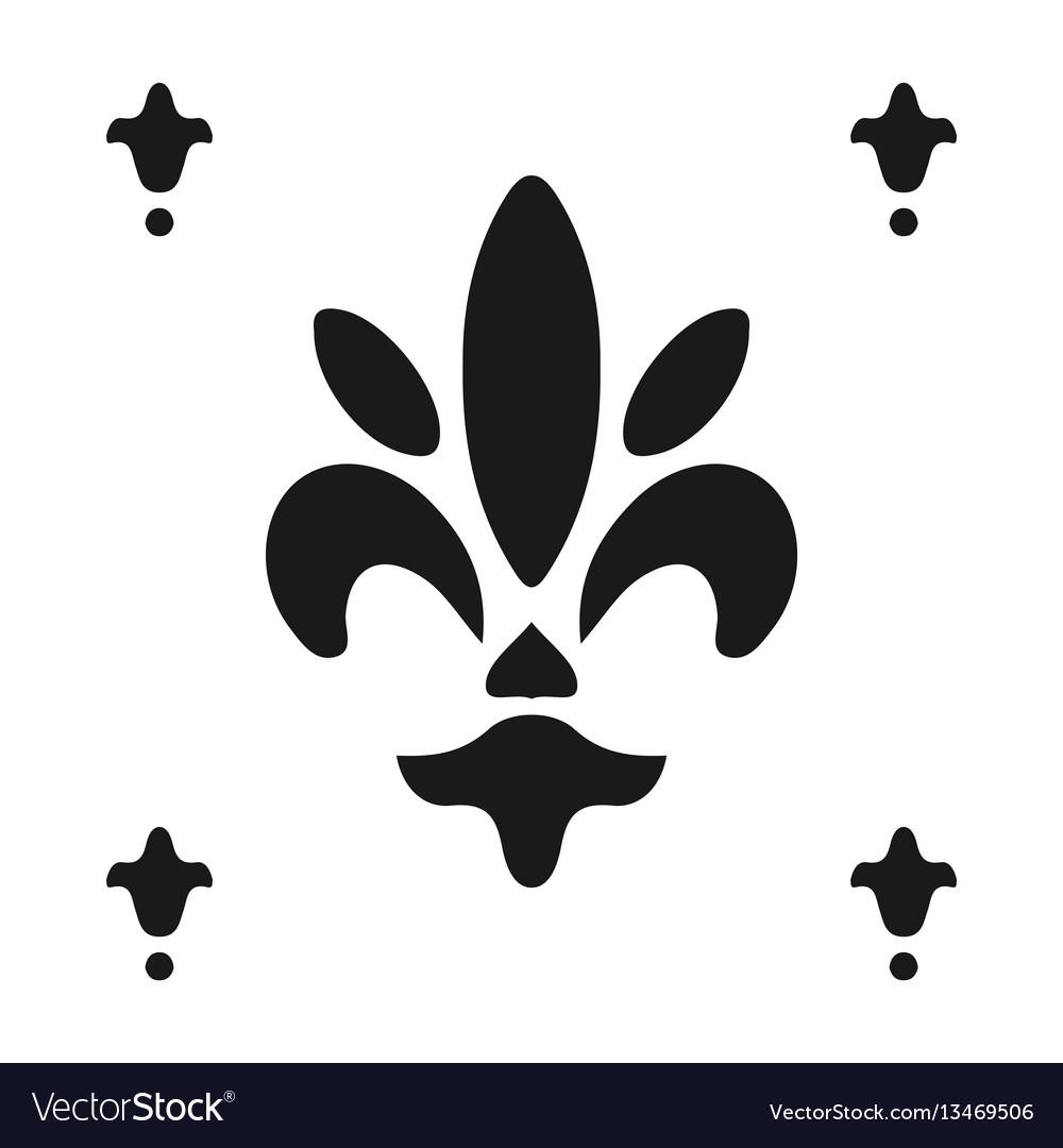 Fleur De Lis Symbol Silhouette Heraldic Symbol Vector Image