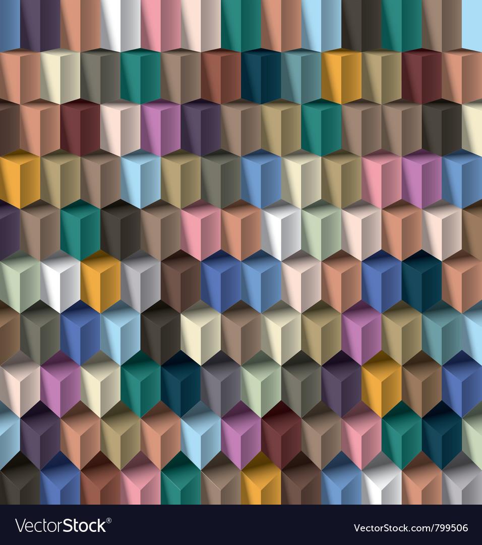 Multicolor cube background vector image
