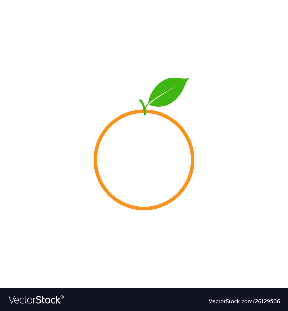 Orange fruit clip art graphic design template