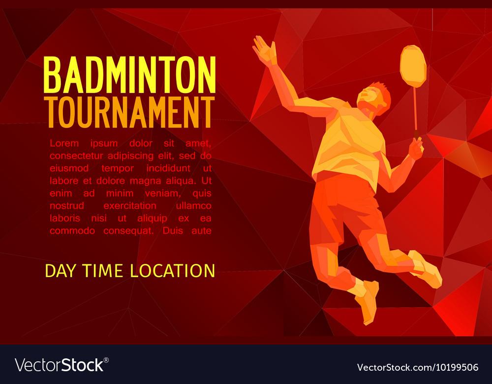 Professional badminton player pattern design vector image