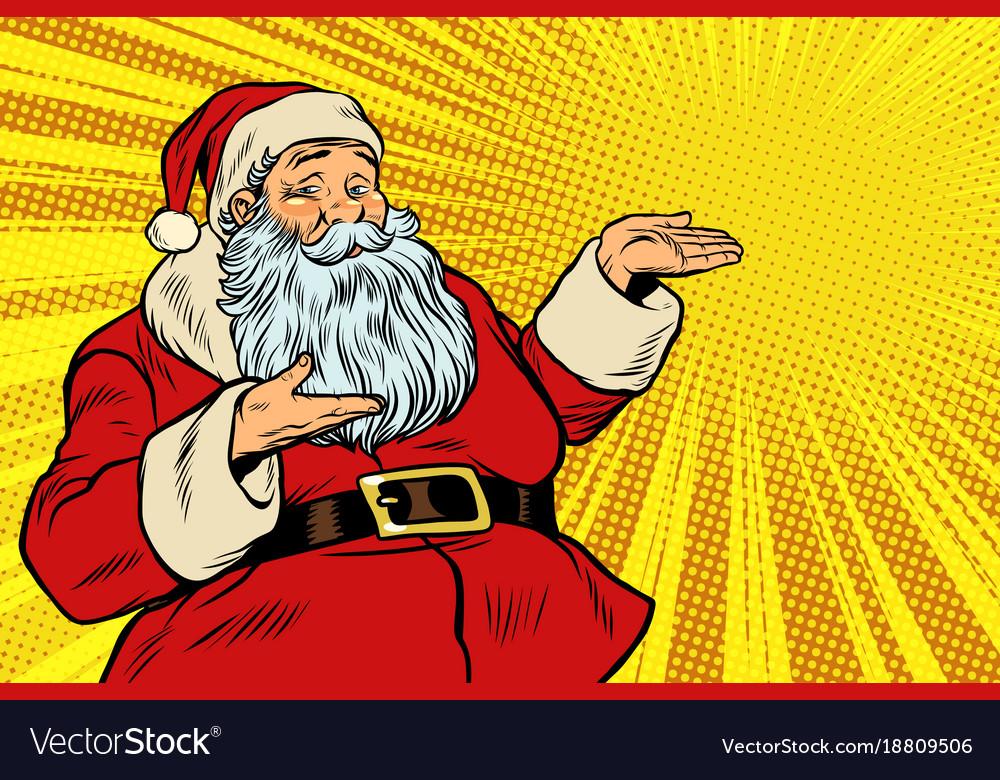 Santa claus copy space template