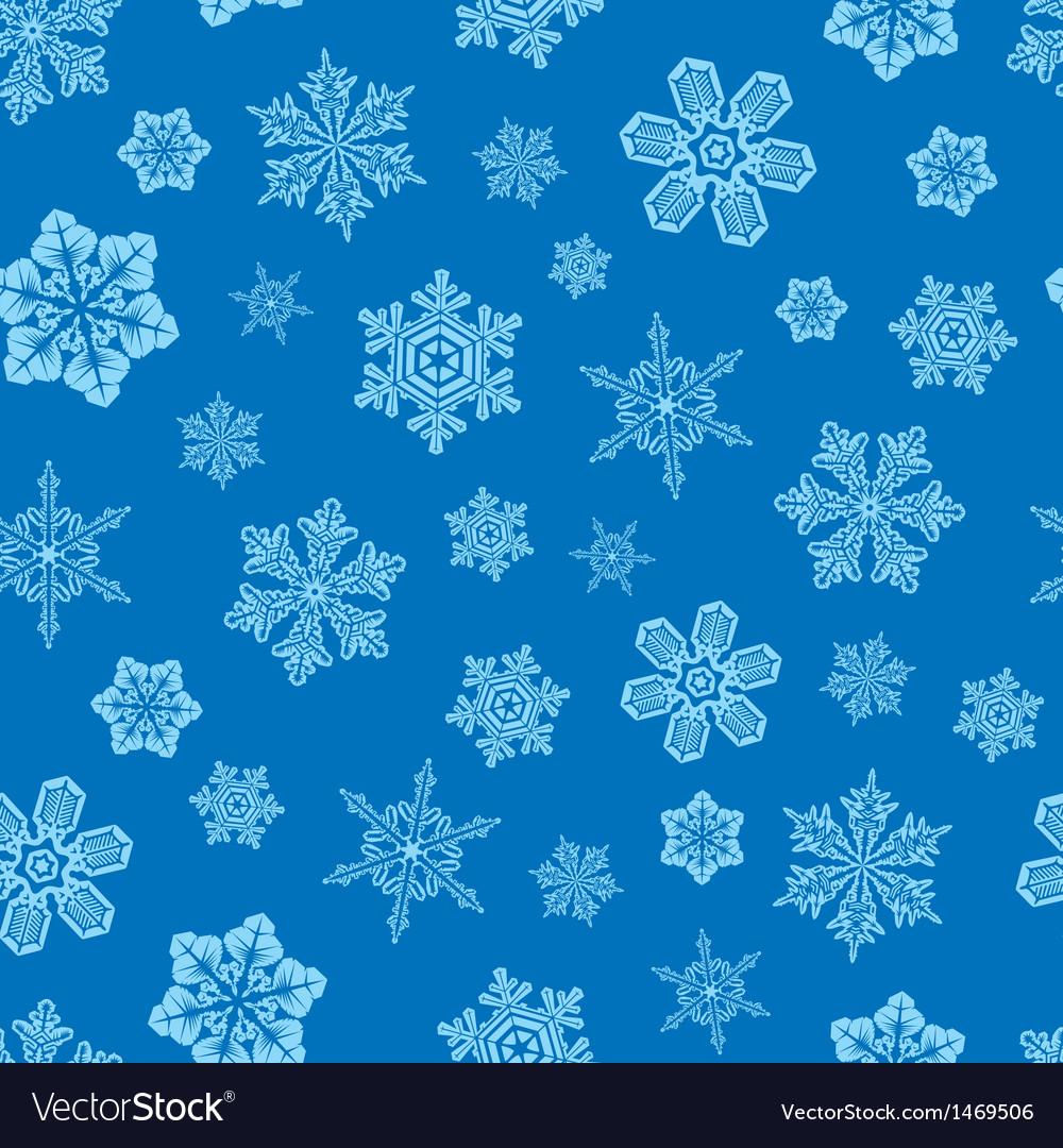 Seamless snwoflakes background
